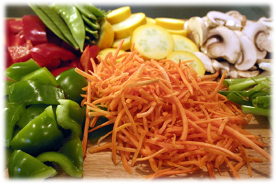 vegetables cooked in foil