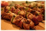 marinated pork kebabs