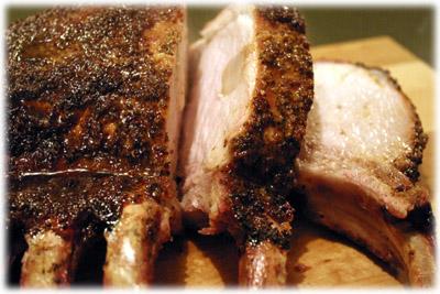 garlic pork rib roast