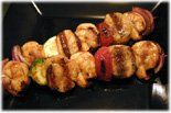 shrimp and scallop kebabs
