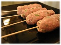 chicken kofta skewers for the grill