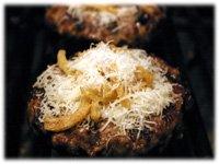 parmesan and onions on hamburgers