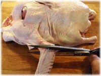 trim a peking ducks wings