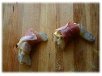 stuffed shrimp in prosciutto