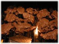 grilling steak sandwich meat