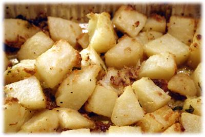bbq potatoes au gratin