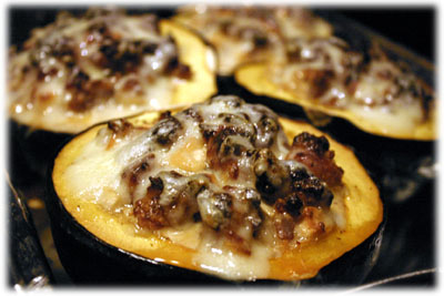 barbecue stuffed squash recipe