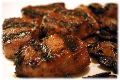 apple grilled pork tenderloin