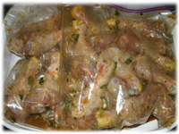 marinating drumsticks