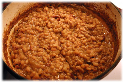 apple maple baked beans
