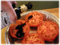 baked tomatoes with balsamic vinegar
