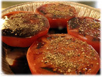 tomatoes with crushed black pepper