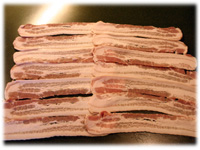 bacon strips for chicken