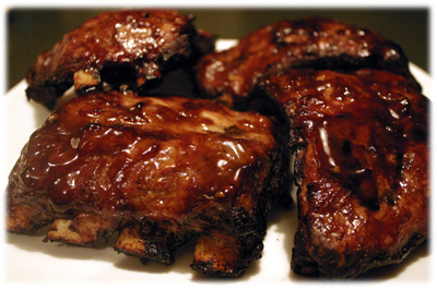 ribs with teriyaki sauce