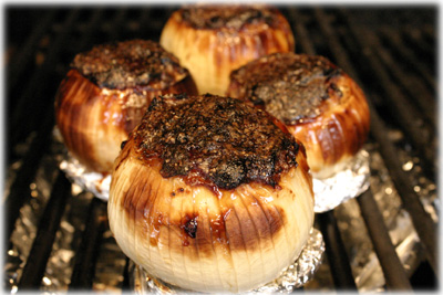 barbecued onions