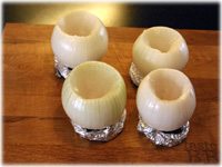 hollow onions on foil rings
