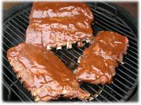 ribs slathered in sauce