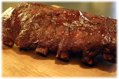 kansas style ribs with bbq sauce