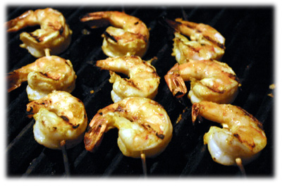 bbq curry shrimp