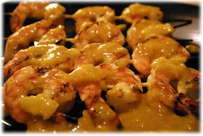 grilled mango shrimp