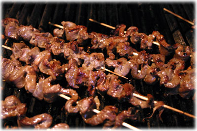korean beef kebabs