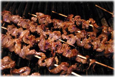 korean beef kebabs
