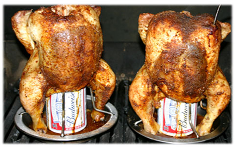 beer can chicken on bbq