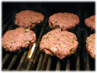 grilling beef burgers