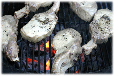 moist grilled pork chops