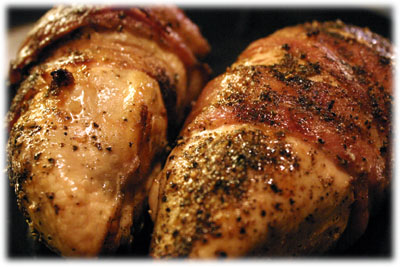 grilled chicken stuffed with cream cheese