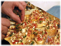 making bruschetta for the grill
