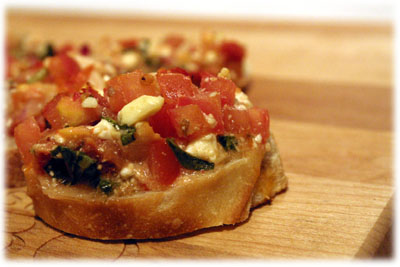 easy chicken bruschetta recipe