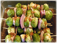 marinating brussel sprouts