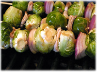 grilling brussel sprouts