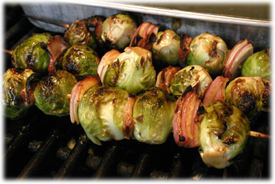 barbecue brussel sprouts