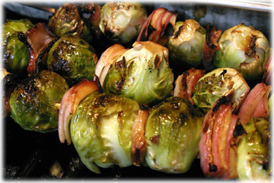 how to make brussel sprouts kebabs