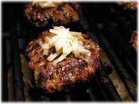 buffalo burgers with smoked cheese
