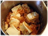 melting cream cheese