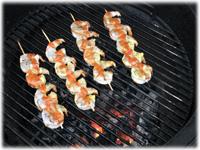 buffalo shrimp on the grill