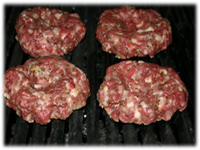 sirloin burgers on the grill