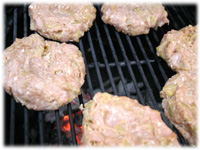 grilling chicken burgers