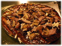 sirloin steak pizza