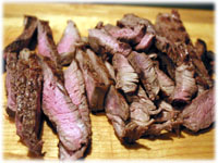 sirloin strips for cheese steak pizza
