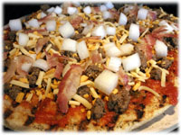 how to make cheeseburger pizza for BBQ