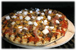 barbequed pizza