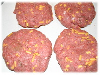 cheeseburgers ready for the grill