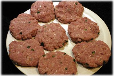 make chicken caesar burger patties