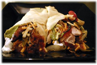 chicken fajita crepes