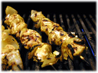 barbeque chicken kebabs