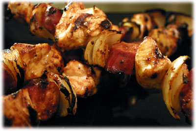 chorizo and chicken kabobs
